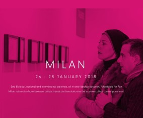 AFFORDABLE ART FAIR MILAN / 26~28 JANUARY 2018