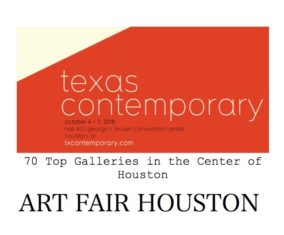 ART FAIR HOUSTON USA.  October 4~7, 2018