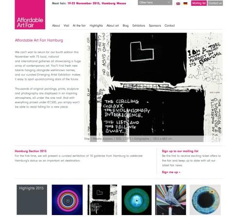 Affordable Art Fair / 19-22. November 2015 / Hamburg Germany
